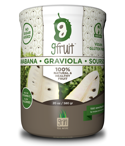 Graviola / Soursop Fruit - 100% Pure Fruit in a 20 oz Jar