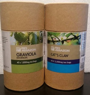 Graviola Soursop and Cats Claw Tea Combo Pack - Free Shipping