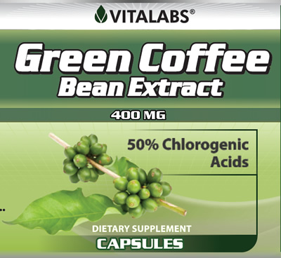 Green Coffee Bean Extract 120 Capsules - 400mg
