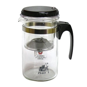 500ml Easy Push Button Strainer Glass Tea Mug