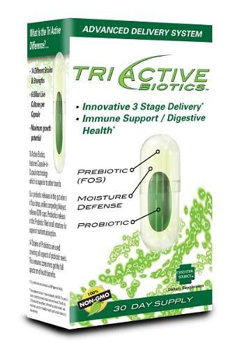 Tri Active Biotics Prebiotic & Probiotic Delivery - 30 Capsules