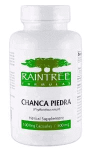Raintree Chanca Piedra 500 mg - 100 Capsules