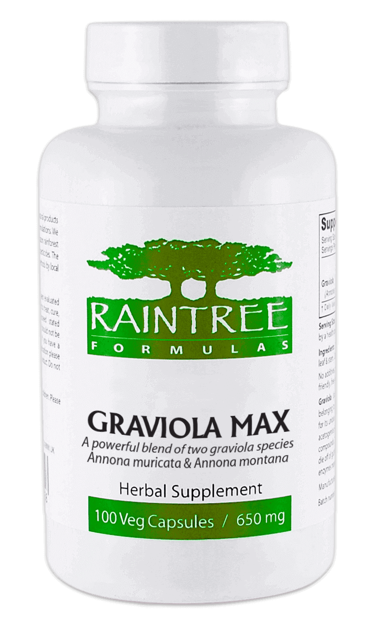 Graviola Max - 120 Caps - 600 mg by Raintree
